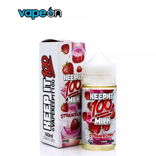 Keep It 100 Strawberry Milk eJuice