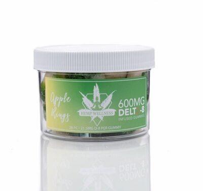 Hemp Wellness - Delta-8 Gummies 600mg Apple Rings