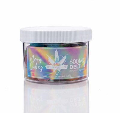 Hemp Wellness - Delta-8 Gummies 600mg Neon Cubes